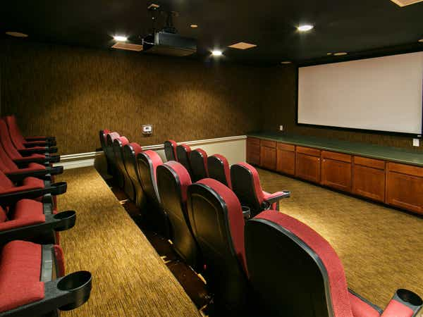 Movie theater at Orlando Breeze Resort near Orlando, Florida.