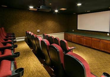 Movie theater at Orlando Breeze Resort near Orlando, Florida.