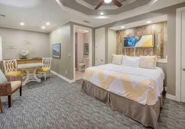 Master bedroom in a two-bedroom Signature Collection villa at Galveston Seaside Resort