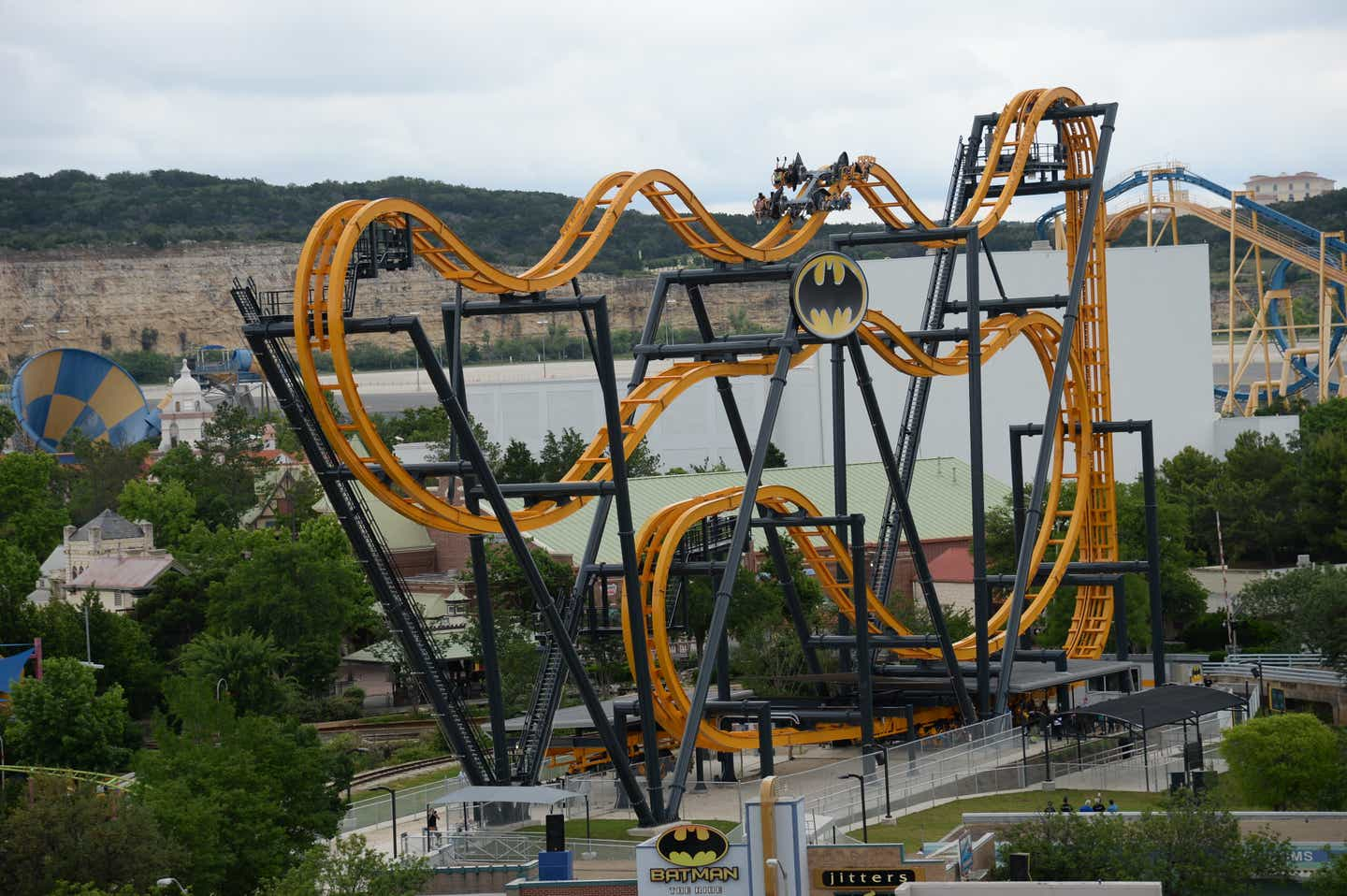 Batman The Ride at Six Flags Fiesta Texas