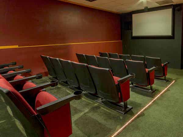 Movie theater at Oak n Spruce Resort.