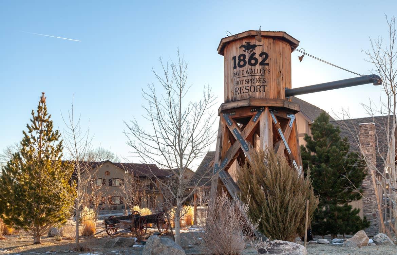 Original 1862 Water Tower at David Walley's Resort in Genoa, Nevada