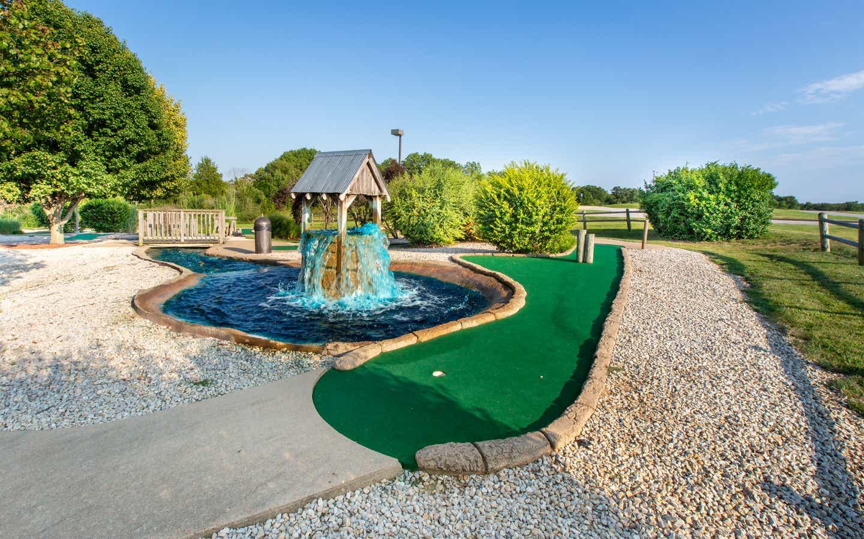 Outdoor mini golf course at Timber Creek Resort in De Soto, Missouri.