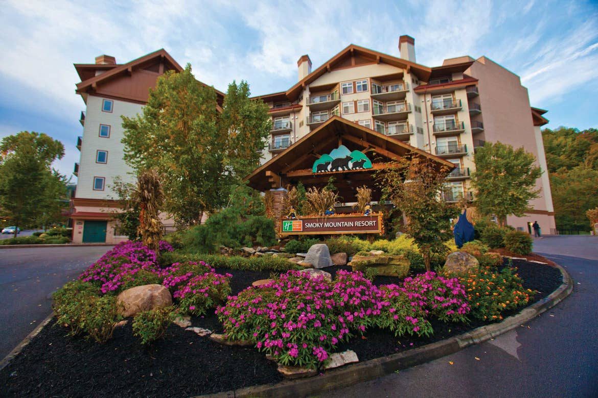 Exterior of our Smoky Mountain Resort in Gatlinburg, Tennessee.