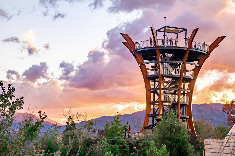 The AnaVista Tower at Anakeesta in Gatlinburg, Tennessee.