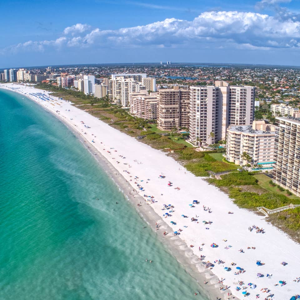Aerial view of Marco Island, FL.