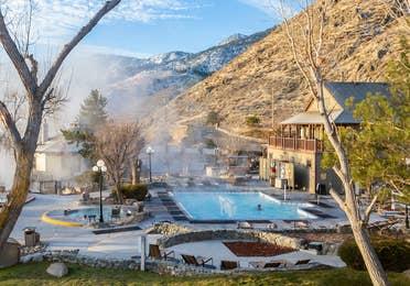 Hot springs and pool at David Walley's Resort in Genoa, Nevada.