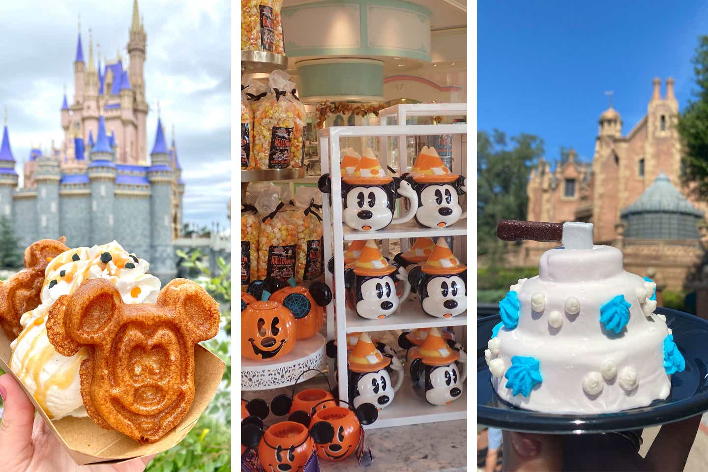 Various festive treats, tricks and gifts in the Magic Kingdom for the Fall season at Walt Disney World.