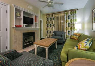 Living room in a one-bedroom villa at South Beach Resort