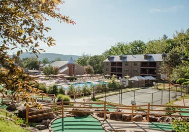 View of property at Oak n Spruce Resort in South Lee, Massachusetts