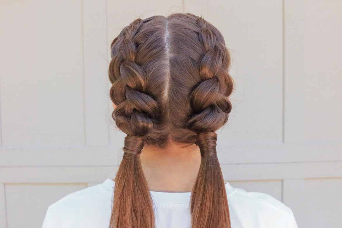 Mindy's daughter, Kamri, sporting the dutch-braid hairstyle.