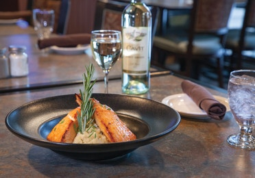 Smoked Maple Plank Salmon from The Maple Kitchen at Mount Ascutney Resort in Brownsville, VT