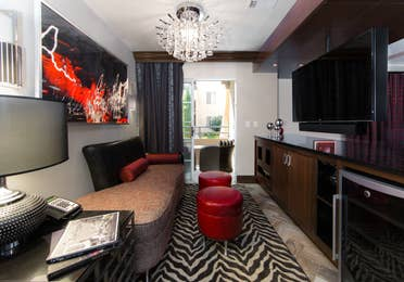 Living room in a studio Signature Villa at Desert Club Resort in Las Vegas