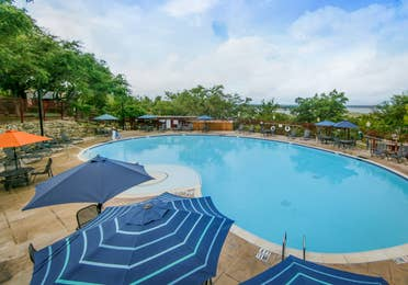 Large outdoor pool at the Hill Country Resort in Canyon Lake, Texas.
