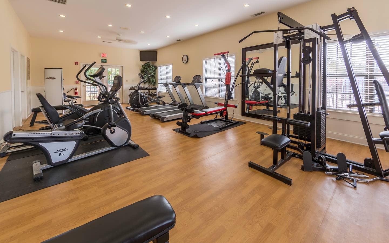 Fitness Center at Apple Mountain Resort in Clarkesville, GA