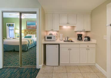 Kitchen in a villa at South Beach Resort