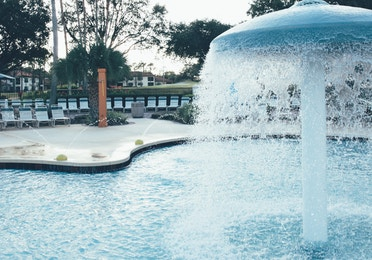 Children's pool with water feature in North Village at Orange Lake Resort near Orlando, Florida