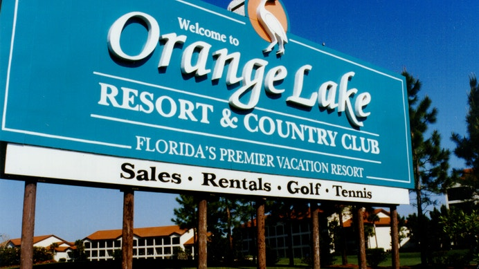 Orange Lake Resort Sign from the 1980s