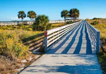 Walking bridge at Panama City Beach State Park in Florida.
