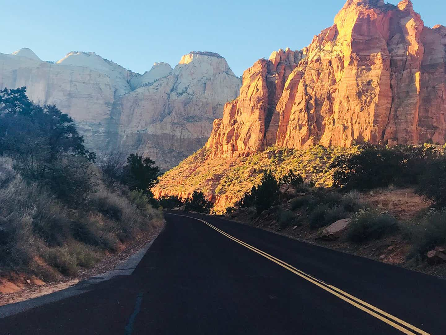 Zion from the road