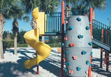 Children's playground in River Island at Orange Lake Resort near Orlando, Florida