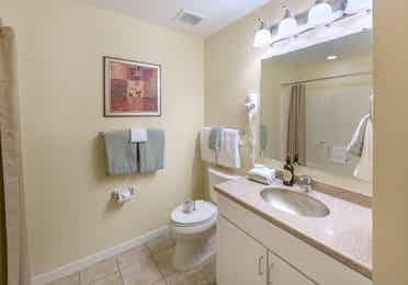 Bathroom in a three-bedroom villa at Villages Resort