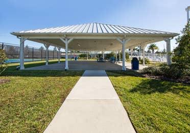 Outdoor pavilion at Orlando Breeze Resort in Florida.