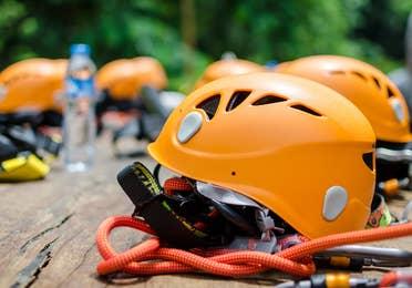 Image of ziplining wear at Lake Geneva Ziplines & Adventures near Lake Geneva Resort in Lake Geneva, WI.