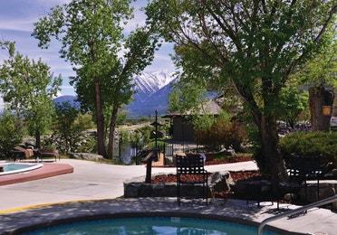 Hot tub pool at David Walley's Resort in Genoa, Nevada