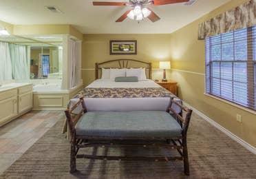 Master bedroom in a two-bedroom villa at Villages Resort