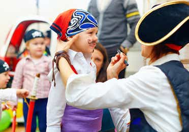 Children dressed up as pirates in Panama City Beach in Florida.