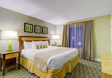 Bedroom in a two-bedroom villa at Desert Club Resort in Las Vegas