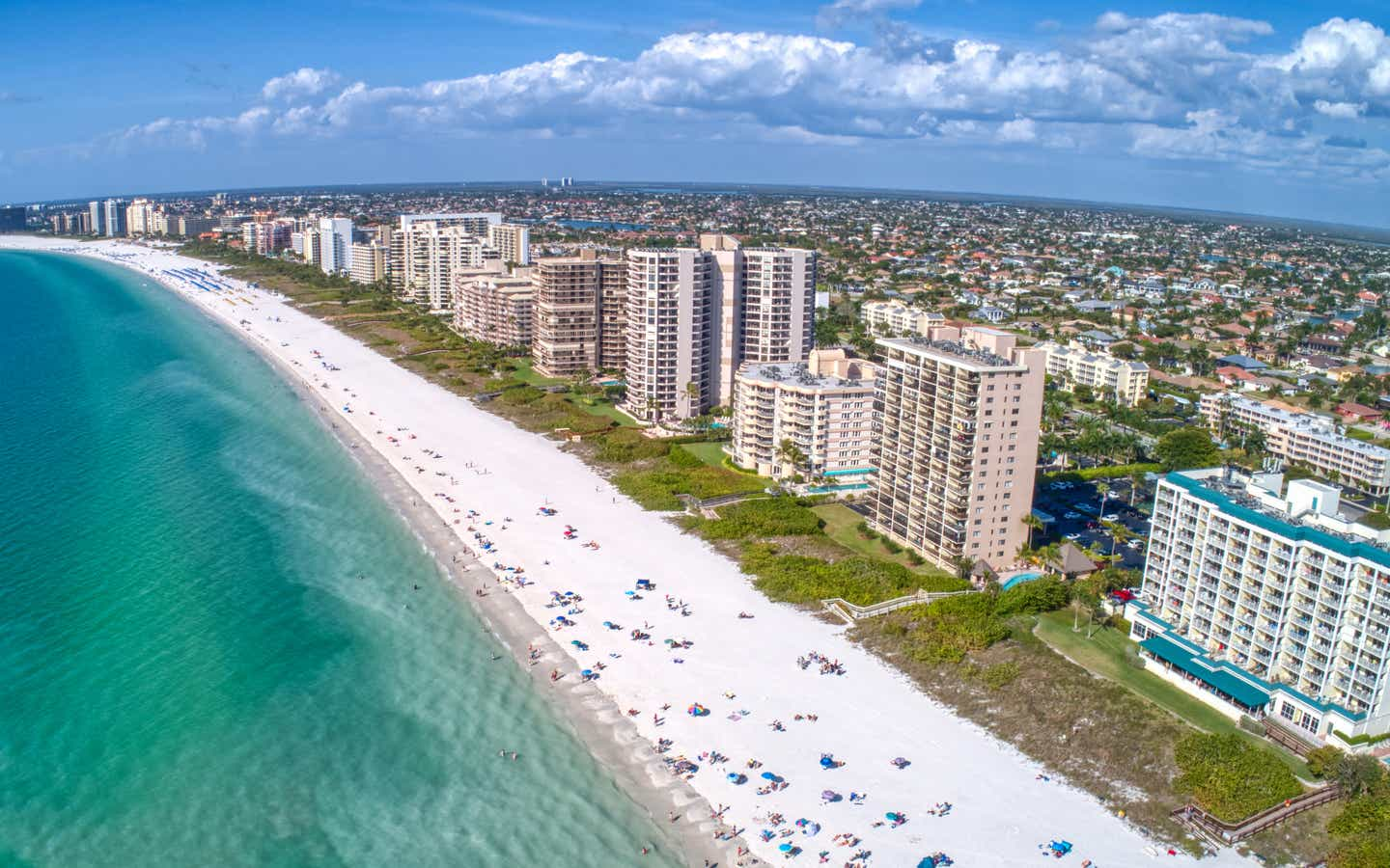 Aerial view of Marco Island, FL