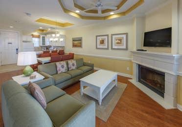 Living room in a two-bedroom presidential villa at Villages Resort