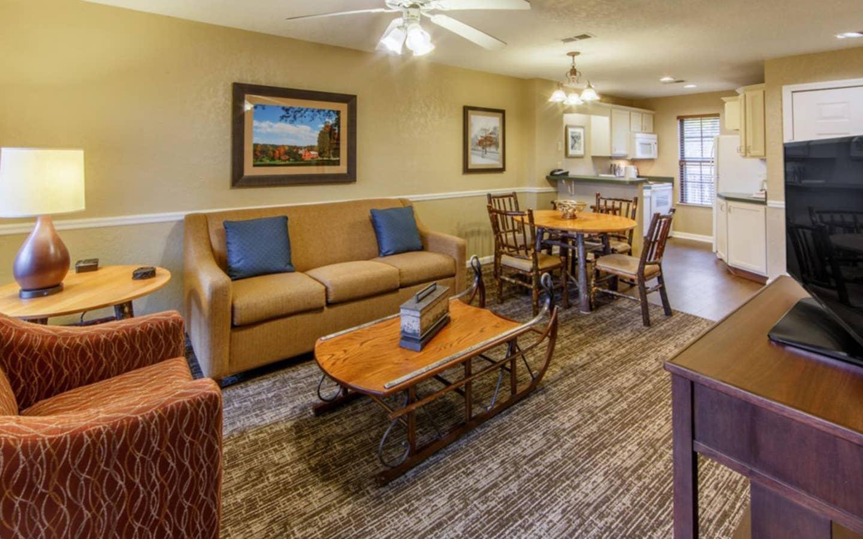 Apple Mountain Resort two bedroom living room.