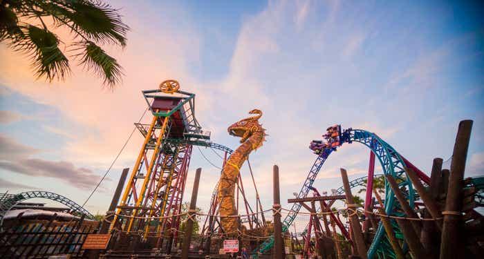 Roller coaster at Busch Gardens Tampa Bay