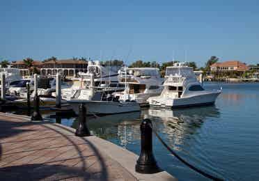 Boat dock near Sunset Cove Resort