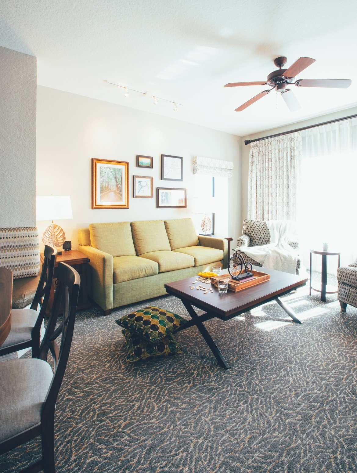 Living room in villa in River Island at Orange Lake Resort near Orlando, Florida