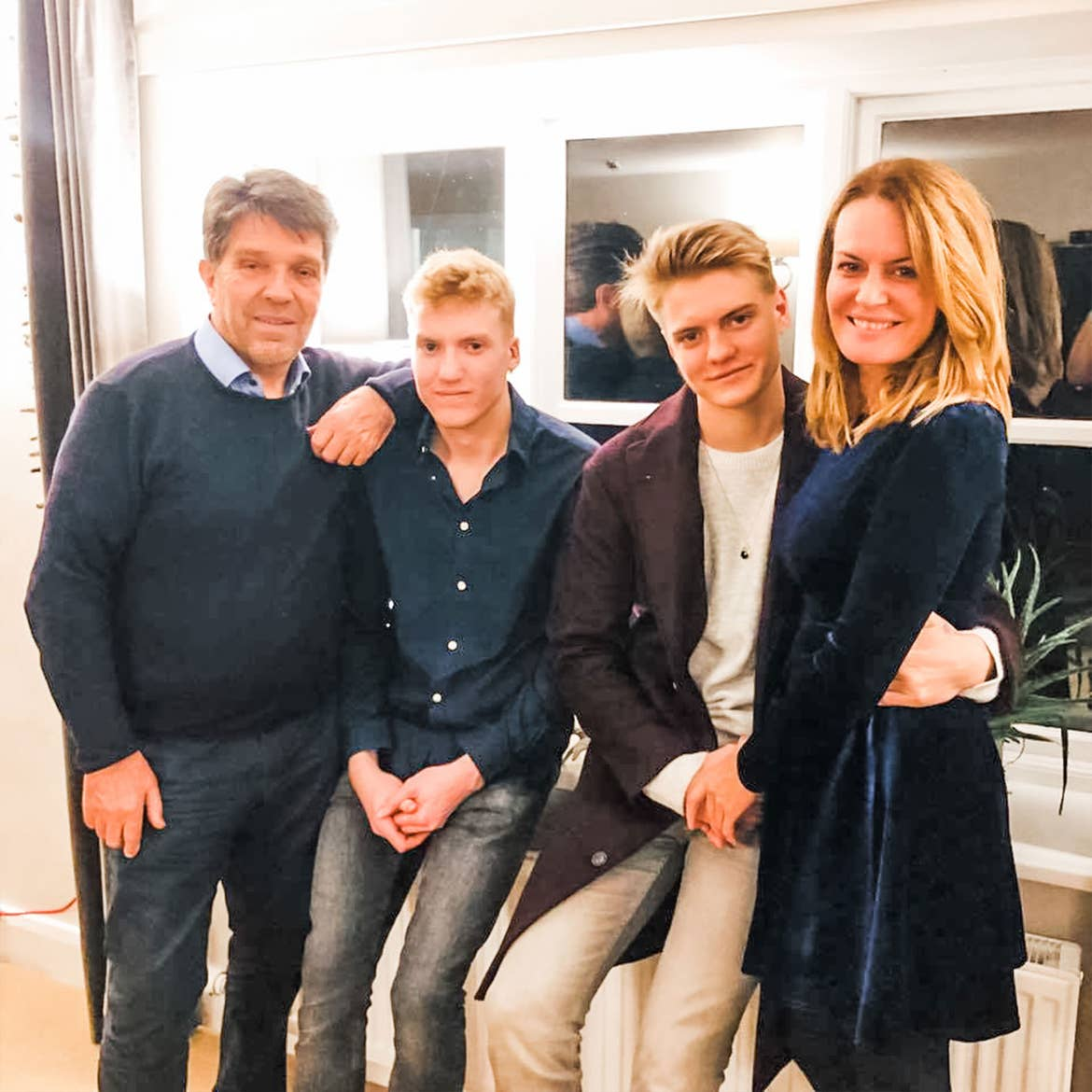 Featured Contributor, Ninka-Bernadette Mauritson (right) and her husband (left), and sons, Bertram (middle-left) and Melvin (middle-right).