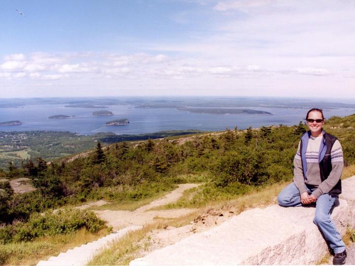 Sarah Conroy in Acadia National Park