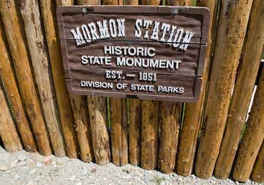 A sign at Mormon Station