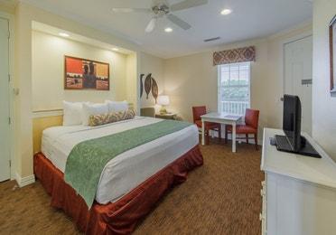 Bedroom in a two-bedroom presidential villa at Villages Resort