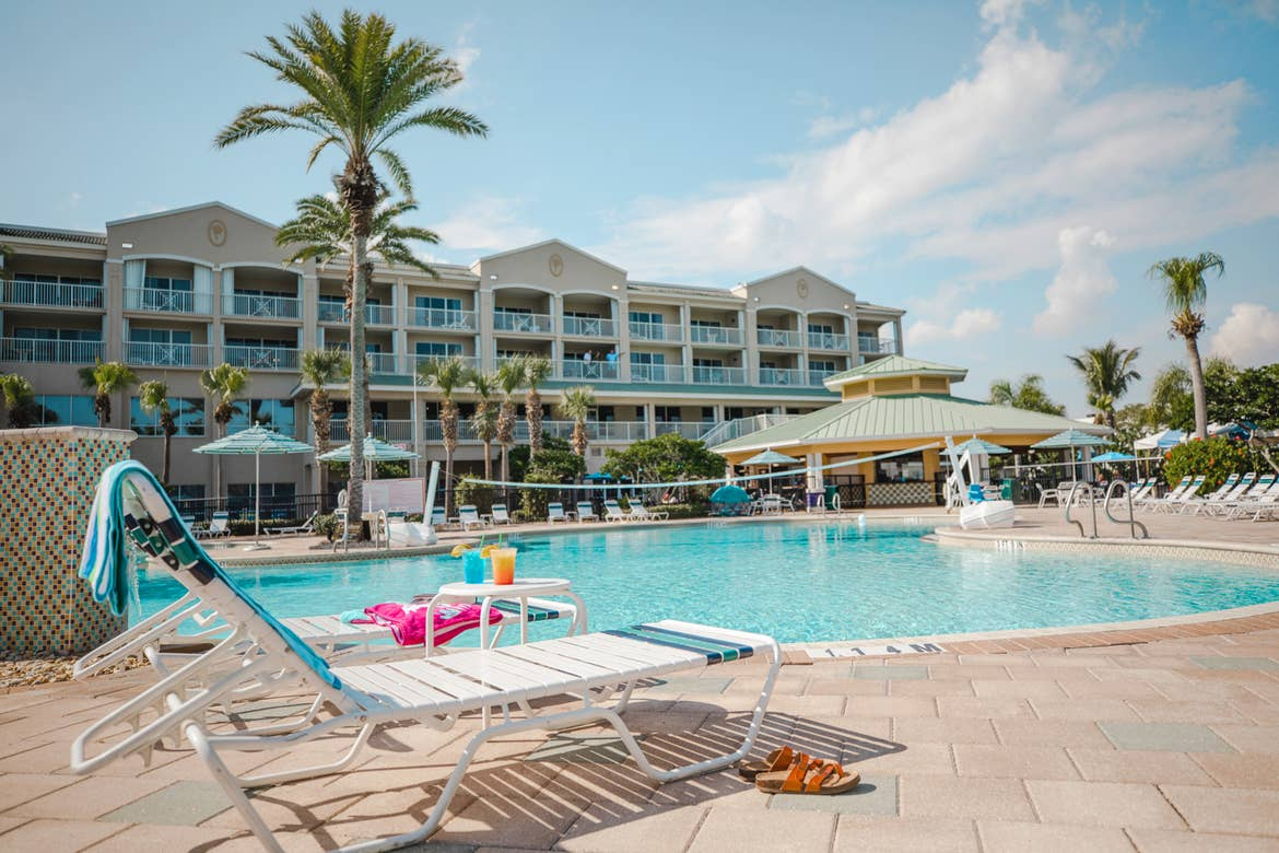 A view of our pool at Cape Canaveral Beach Resort.