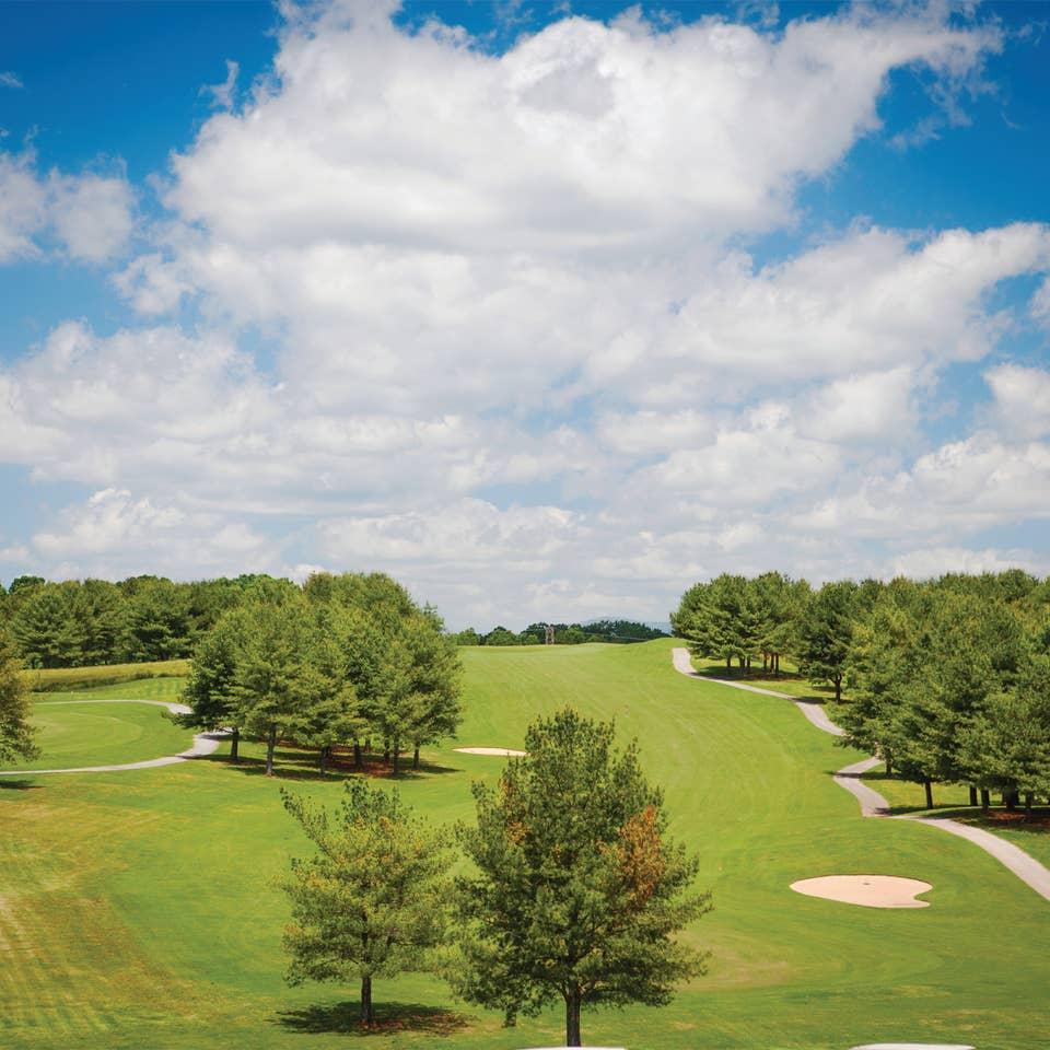 Golf course at Apple Mountain Resort in Clarkesville, GA