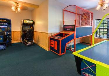 Arcade at Apple Mountain Resort in Clarkesville, GA