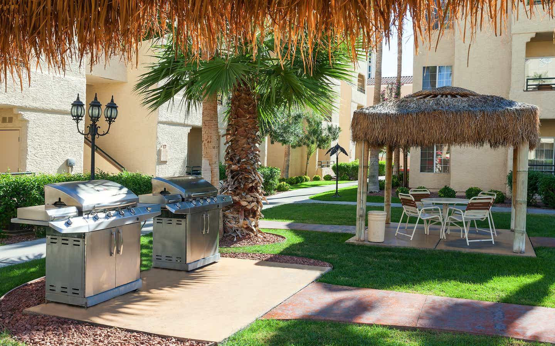 Barbecue grills at Desert Club Resort in Las Vegas, Nevada.