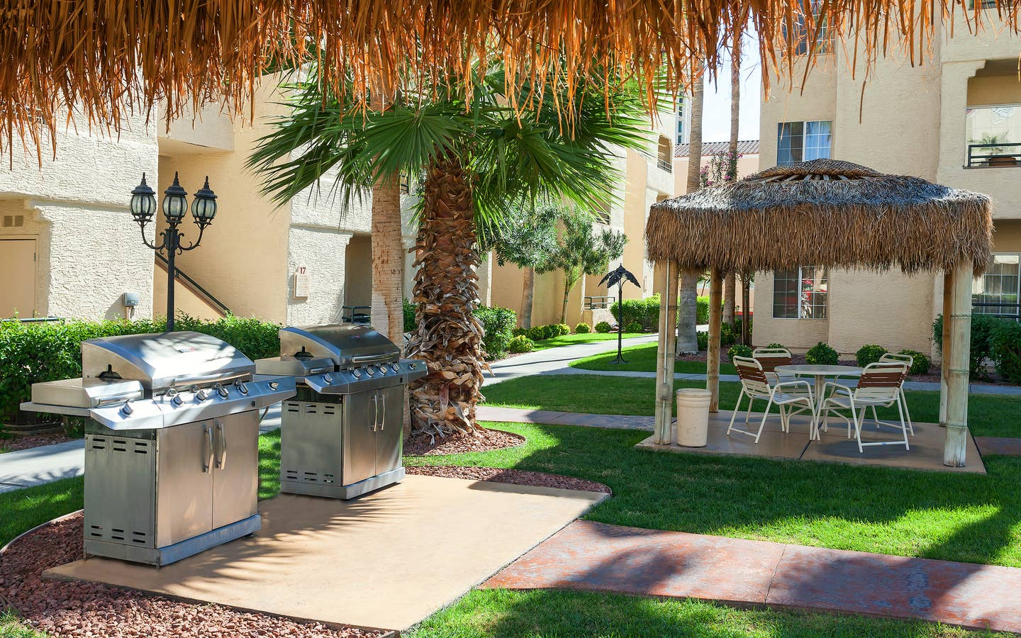 Barbecue grills at Desert Club Resort in Las Vegas, Nevada.