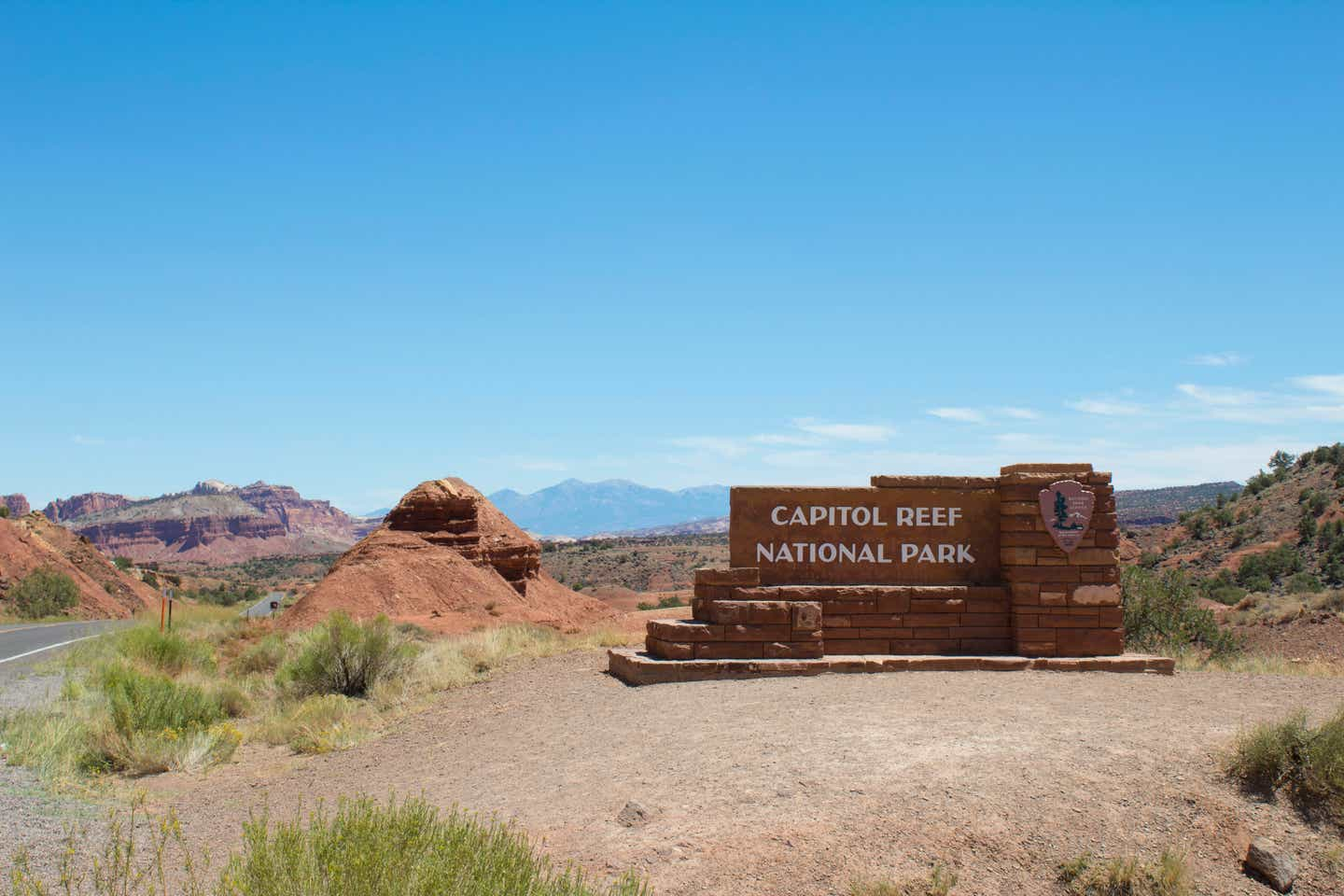 Capitol Reef National Park monument sign