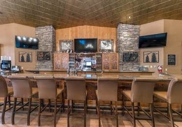 The Clubhouse bar at Tahoe Ridge Resort in Stateline, NV