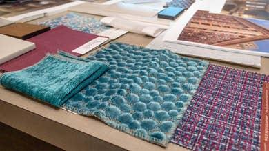 New Orleans Resort interior design fabric swatches